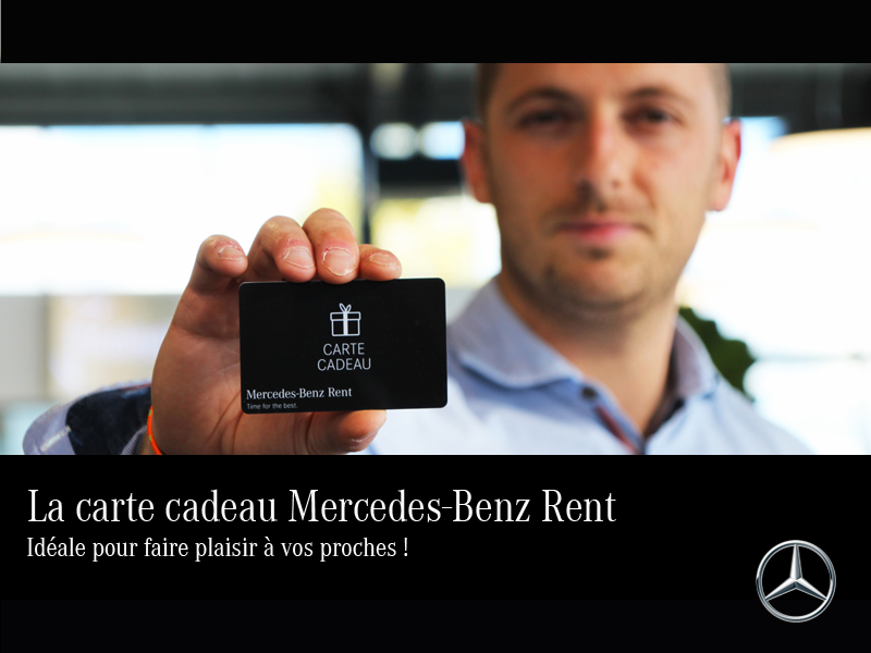La carte cadeau Mercedes-Benz Rent